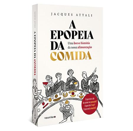Capa do livro A Epopeia da Comida